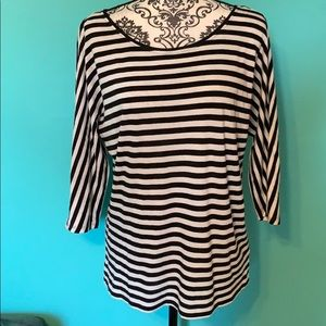 White House Black Market Casual Striped Loose Top